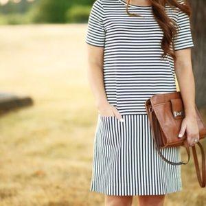 LIKE NEW!!!  Madewell Striped Dress.